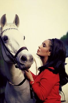 Elizabeth Taylor and Horse