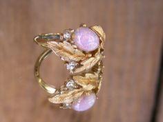70s Avon Fireflower Ring by dagutzyone on Etsy