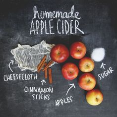Homemade apple cider ingredients