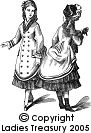 Free Pattern: Double-Breasted Polonaise Dress for a Little Girl, October 1874