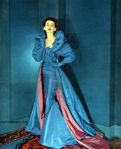vintage gowns, cotton candy, couture gowns, vintag fashion, blue, dorian leigh, dress fashion, evening gowns, gown dresses