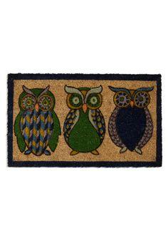 Owl the Better Doormat, #ModCloth Owl Owls #owl #owls
