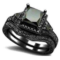 Black Gold, Black Diamond Wedding set