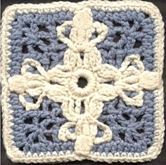 "6"" Angels around the World Granny Square - Free Crochet Pattern"
