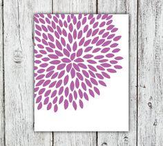 Radiant Orchid Dahlia Flower Printable Art Print by RiverOakStudio, $5.00