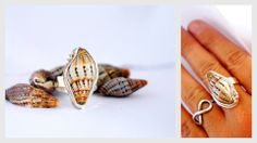 Conch seashell ring by Ek Art Jewelry Tamarindo, Costa Rica #tamarindo #costarica #jewelry #designers #seashells #wedding