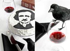 Edgar Allen Poe Red Velvet Cake