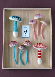 Needle-felted Mushrooms by Hine Mizushima, via Behance