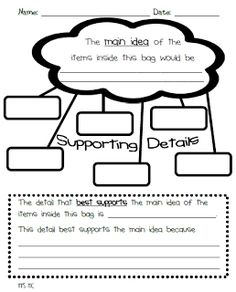 Little Literacy Learners: Main Idea and Details