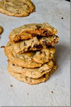 Big, Chewy, Sweet and Salty Peanut Butter Cookies