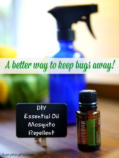 DIY Essential Oil Mosquito Repellent - This stuff smells great and WORKS!  EverythingEtsy.com #essentialoils #diy