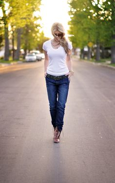 Jeans & a White T Outfit No. 7  ~ Feelin' Urban