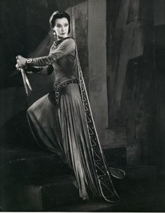 Lady Macbeth holding the knife that killed King Duncan.