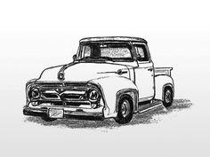 nice card idea, circl track, editorial, old trucks, masculin card, masculine cards, trivia, ford truck, printabl