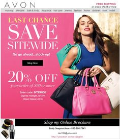 Last Chance to Save 20% on your Avon Order - Avon Discount Code: Campaign 18 2014 - save 20% on your online order of $60 or more! Use coupon code: SITEWIDE - Expires: midnight 8/17/2014 http://www.makeupmarketingonline.com/avon-discount-code-campaign-18-2014/ #makeup #discount #coupon