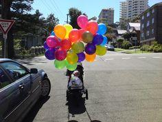 Helium balloons!