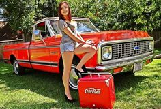 Chevy C-10 72 with cute babe coca cola