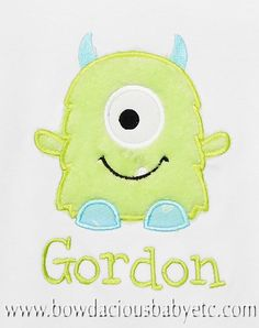 Personalized Alien Monster Shirt Monster by bowdaciousbaby on Etsy, $18.00