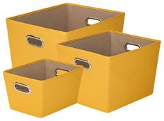 Yellow Storage Bins,