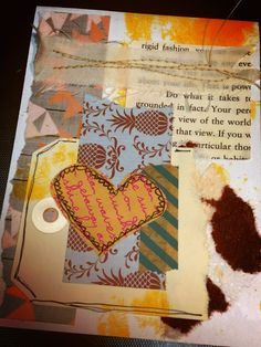 cards made from scraps