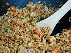 Shrimp Fried Rice #SundaySupper by The Redhead Baker
