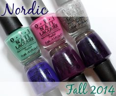 OPI Nordic Fall 2014 swatches and review via @AllLacqueredUp