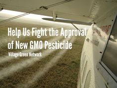Help Us Fight the Approval of New GMO Pesticide / http://villagegreennetwork.com/help-us-fight-approval-new-gmo-pesticide/