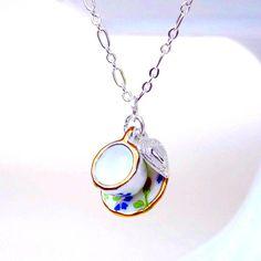 cute tea cup necklace
