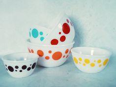 Rare Hazel Atlas Dots Nesting Bowls