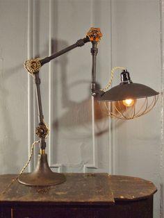 Antique Fostoria Machine Age Task Light $385