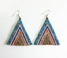 Geometric beaded earrings offer the perfect combination of shimmer and color.