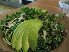 Kale, kraut, dulse salad with no oil dressing