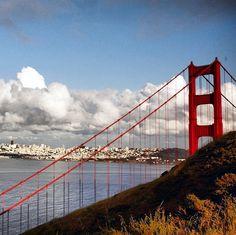 San Francisco from behind the Golden Gate Bridge, #California // Slideshow: World's Most Amazing Views
