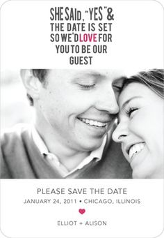 Super cute Save the Date