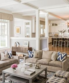 LOVE this!  Open floor plan, kitchen, family room.  Colors and patterns and textures, OH MY!