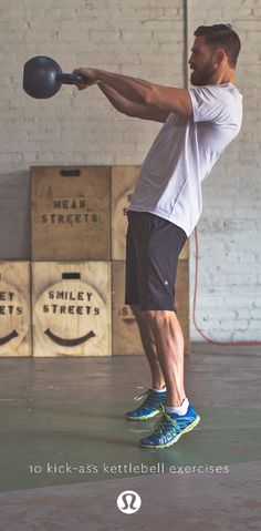 10 kick-ass kettlebell exercises | Great for cardio, strength and flexibility training let us take you through 10 exercises