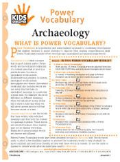FREE, 16-Page Downloadable Vocabulary Packet for Kids Discover Archaeology!