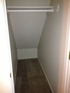 Coat Closet With Additional Storage Space Under The Stairs