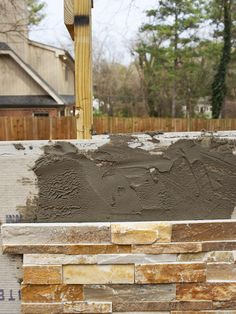 How to Build an Outdoor Stacked Stone Fireplace - on HGTV