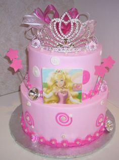cake idea, barbie cupcakes cake, cake decor, kid birthday cakes, kid birthdays, barbi cake, bday cake, princess cakes, kid cake