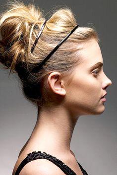 ponytail headband, bun headband, headband with bun, hair accessories, high ponytail updo, messy updo for thin hair, thin hair updo, hair with headbands, headband updo