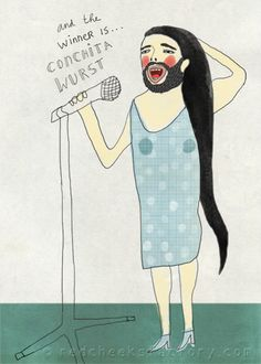 Conchita Wurst, the bearded lady, winner of the Eurovision Song Contest 2014