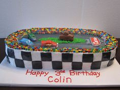 CARS race track birthday cake by Cakes by Kelly D, via Flickr