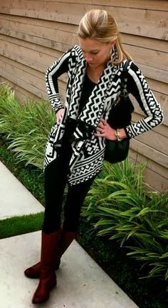 Cute black and white winter sweater fashion | Fashion and styles