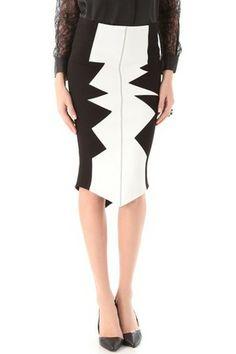 Kelly Wearstler Sharks Tooth Organto Skirt