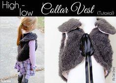 Guest Posting at icandy handmade: High Low Fur Collar Vest DIY