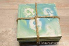 DIY Marbled Coasters