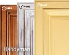 DIY:  How to Spray Paint Kitchen Cabinets - such an inexpensive way to update your kitchen!!! Great tutorial!