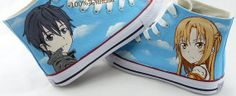 Sword Art Online is like my obsession. I love the anime so much. Which makes me love these shoes! Kirito x Asuna Forever! <3