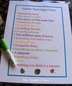 Nature walk scavenger hunt!